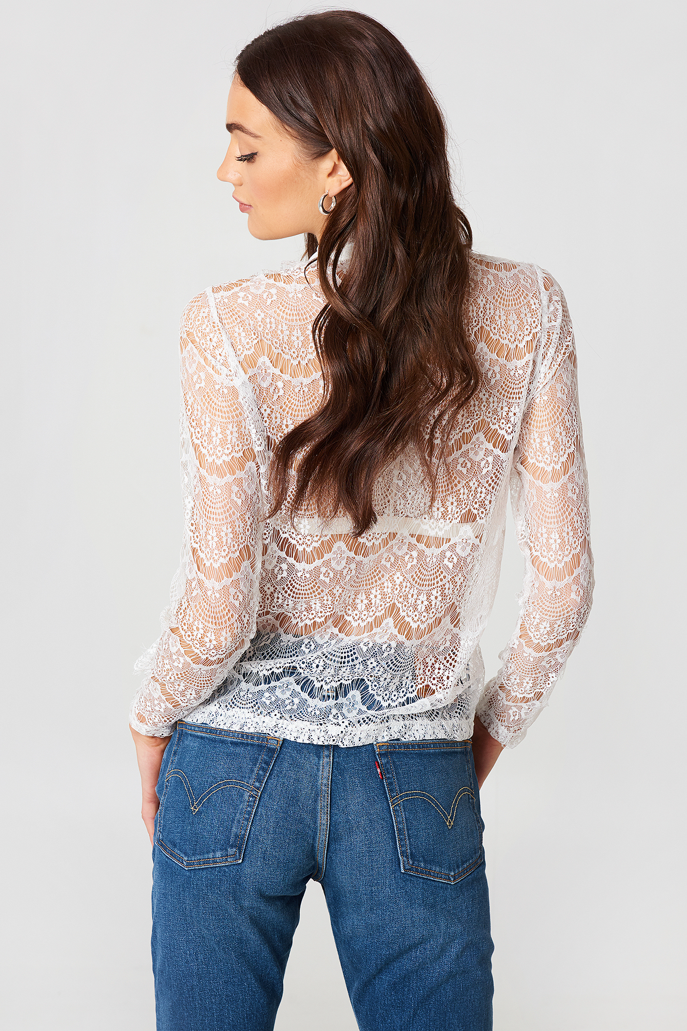 Wilma Lace Frill Top NA-KD.COM