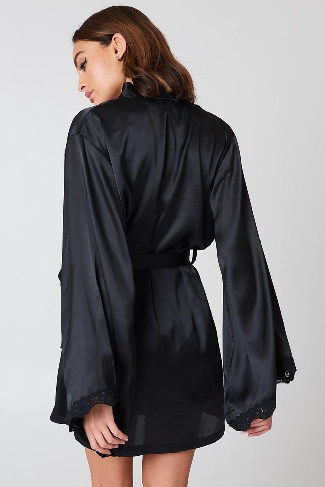 Zinda Night Robe Black