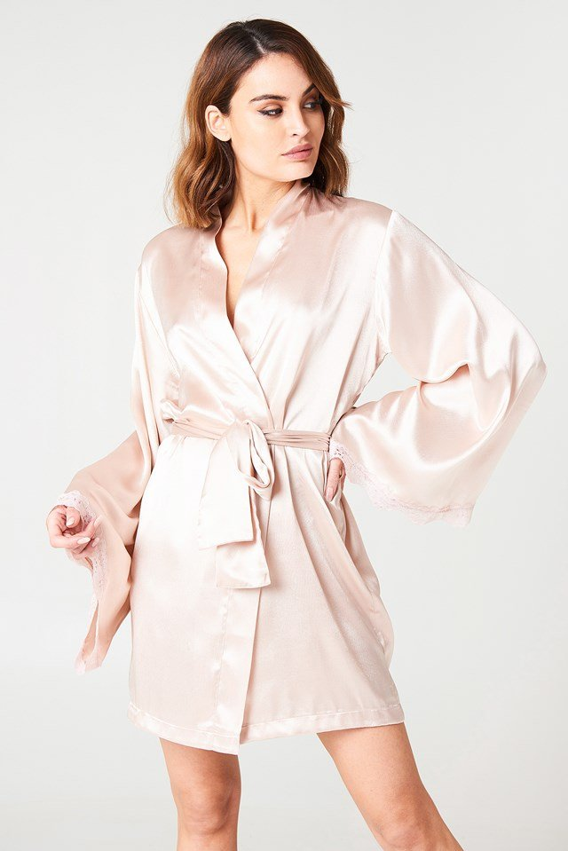 Zinda Night Robe Pastel Pink