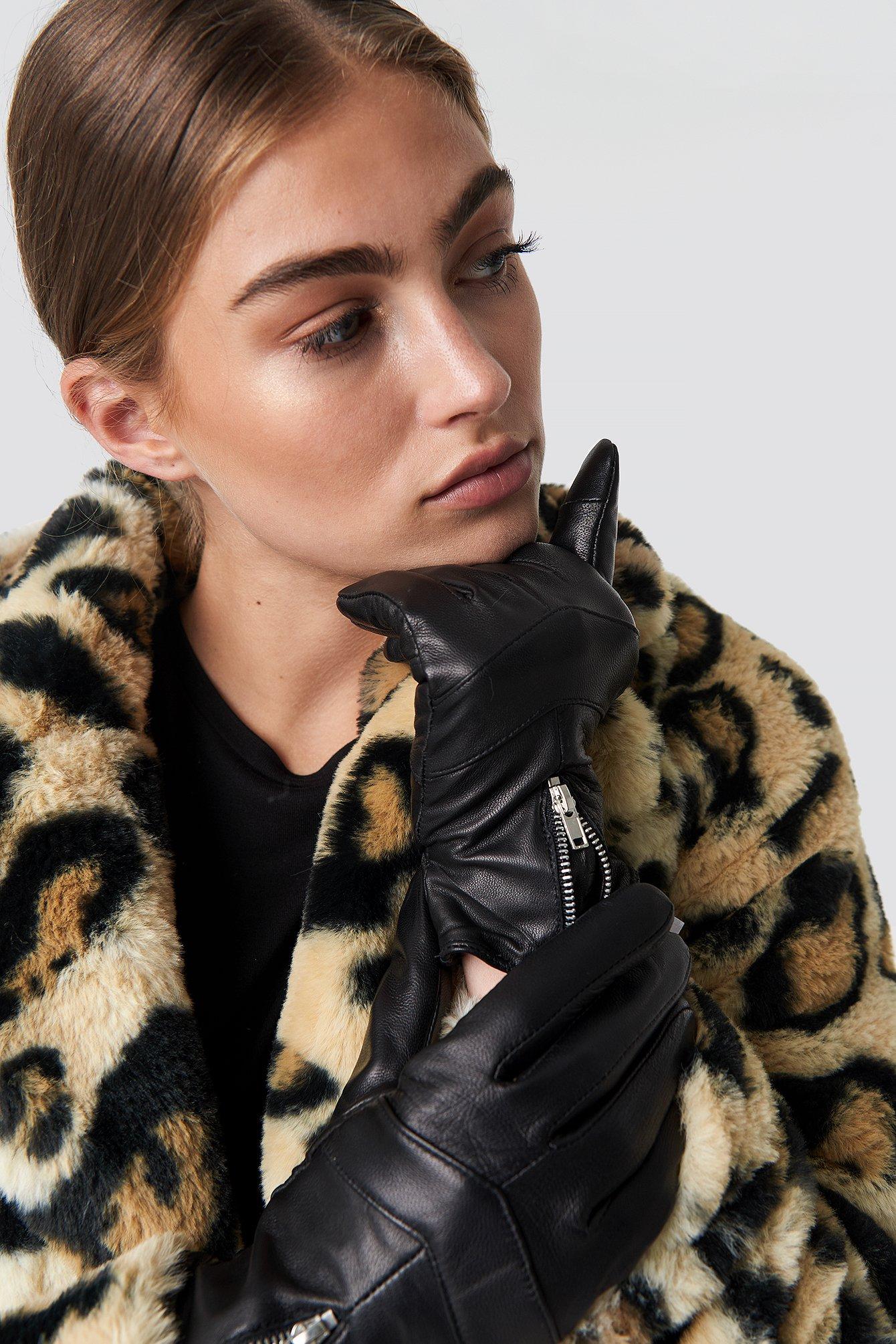 Zip Leather Glove  NA-KD.COM