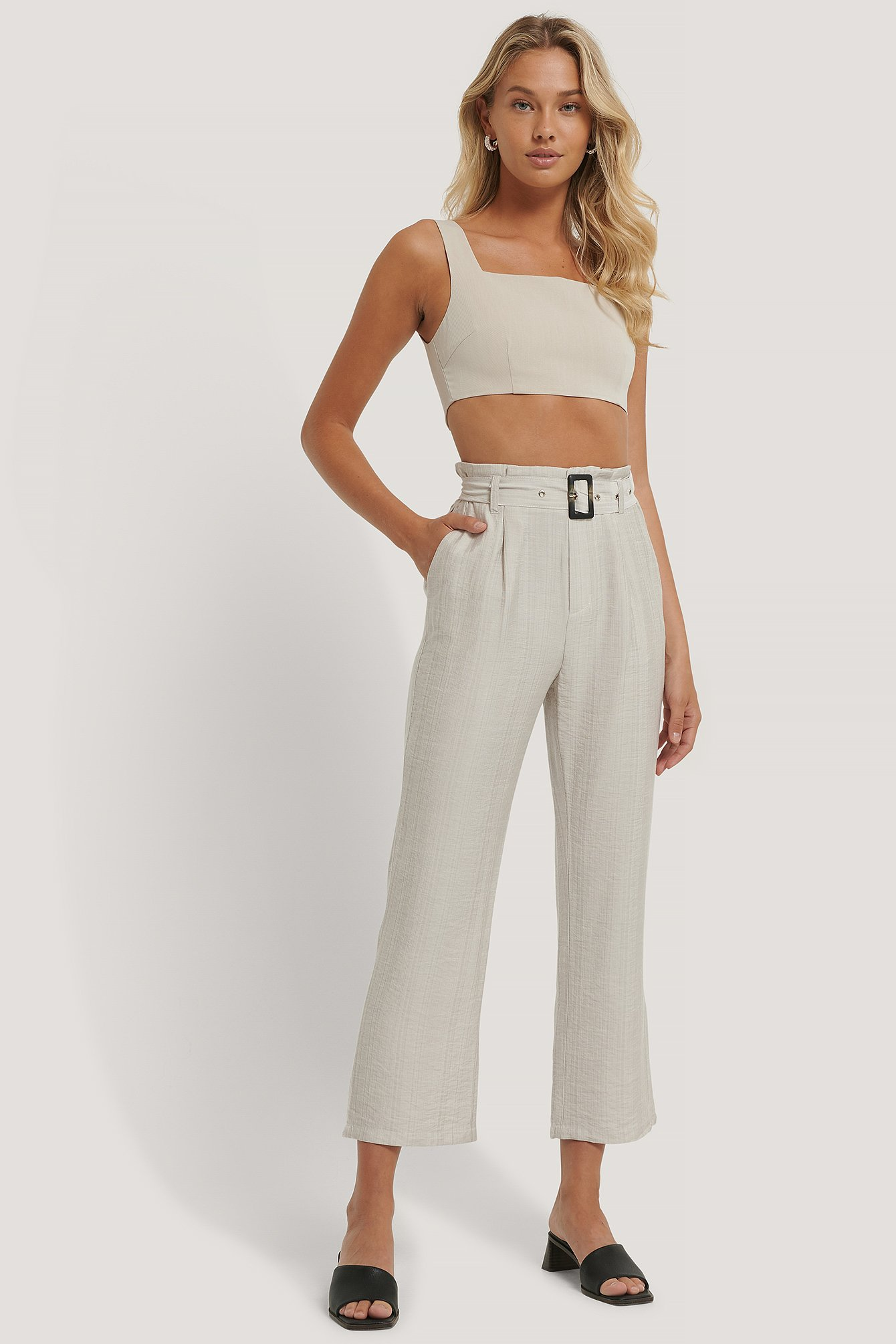 Light Beige Abby Pant