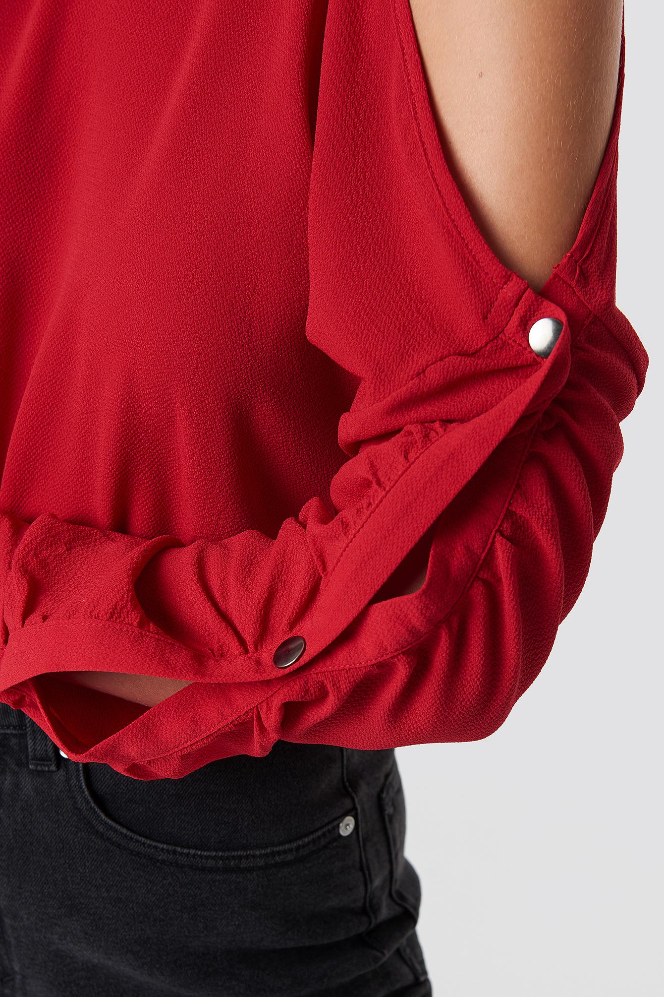 Button Sleeve Blouse NA-KD.COM