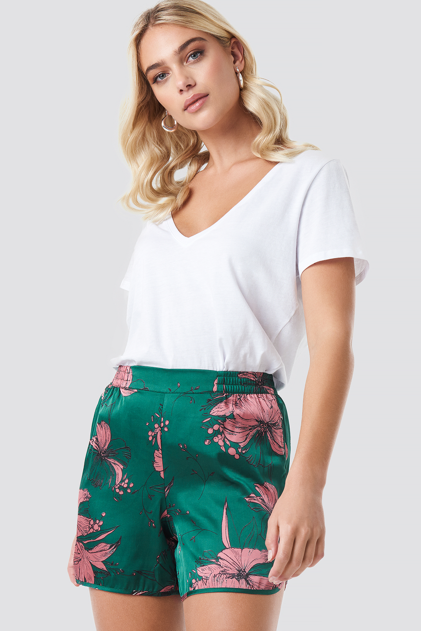 Flower Smock Shorts NA-KD.COM