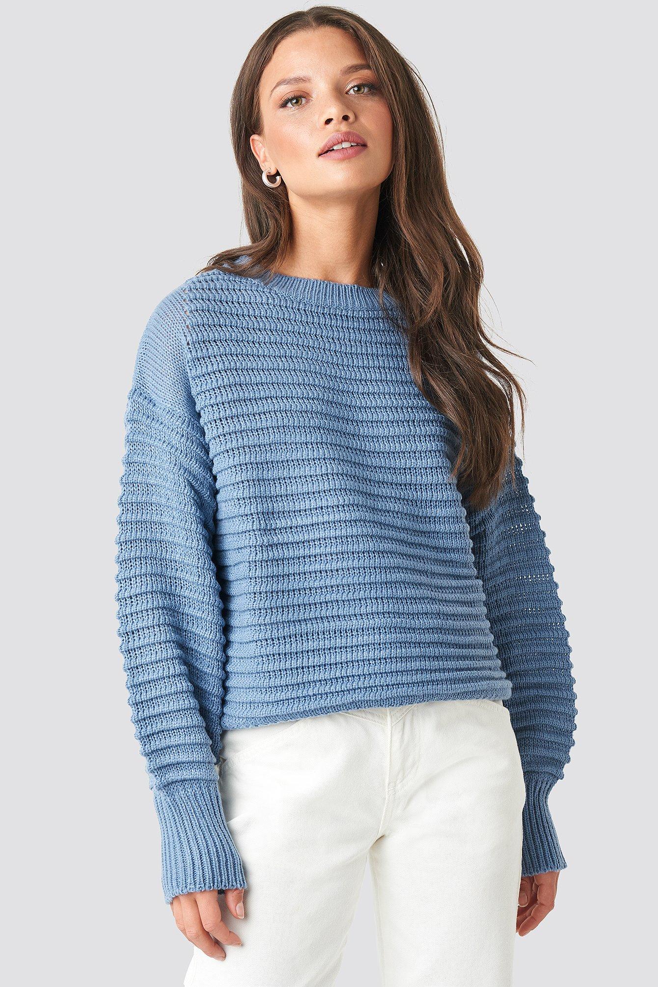 rut&circle -  Liza Jaquard Knit - Blue
