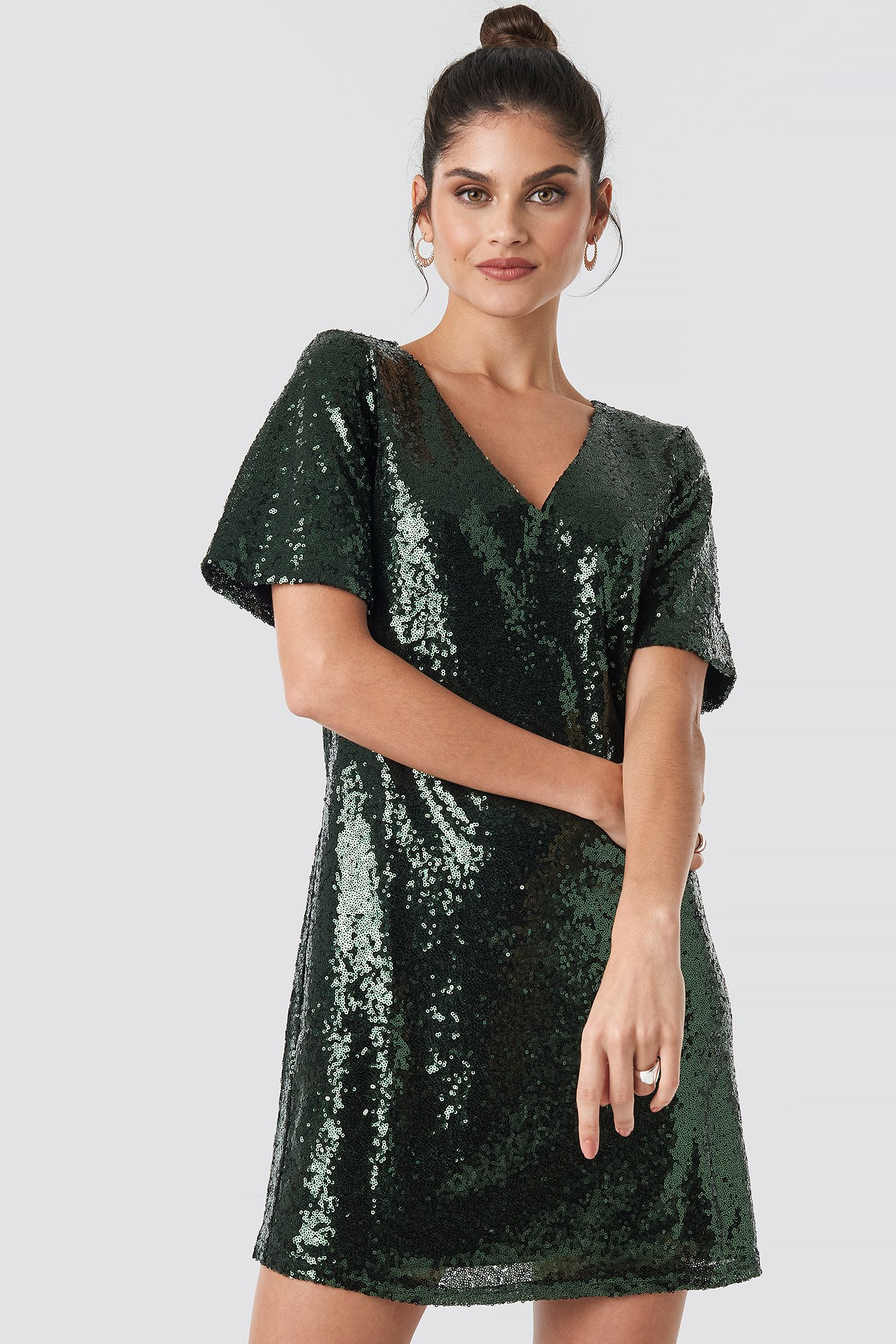 Green Lulu Sequins Dress