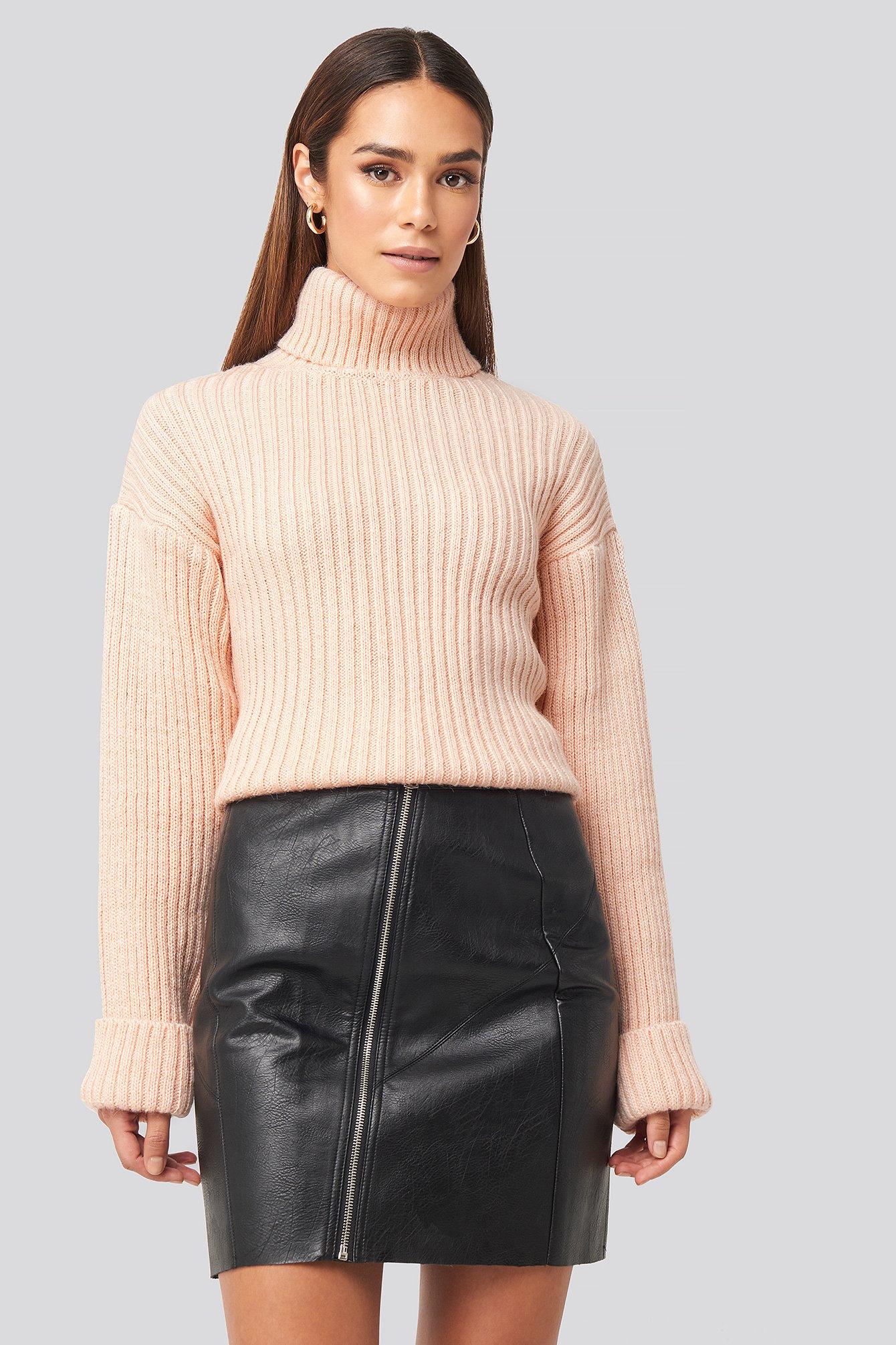 rut&circle -  Nellie PU Skirt - Black