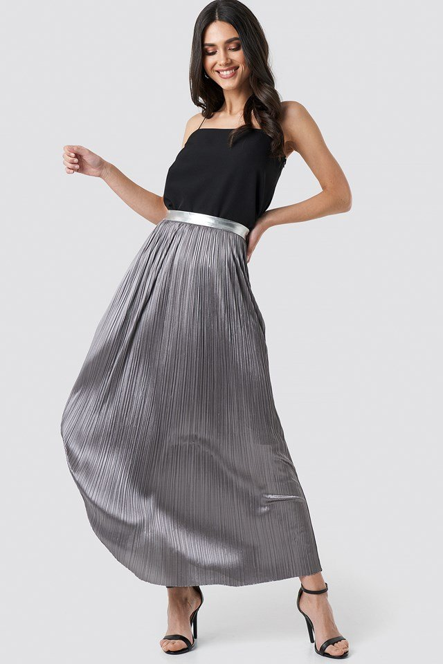 Nina Long Skirt Silver