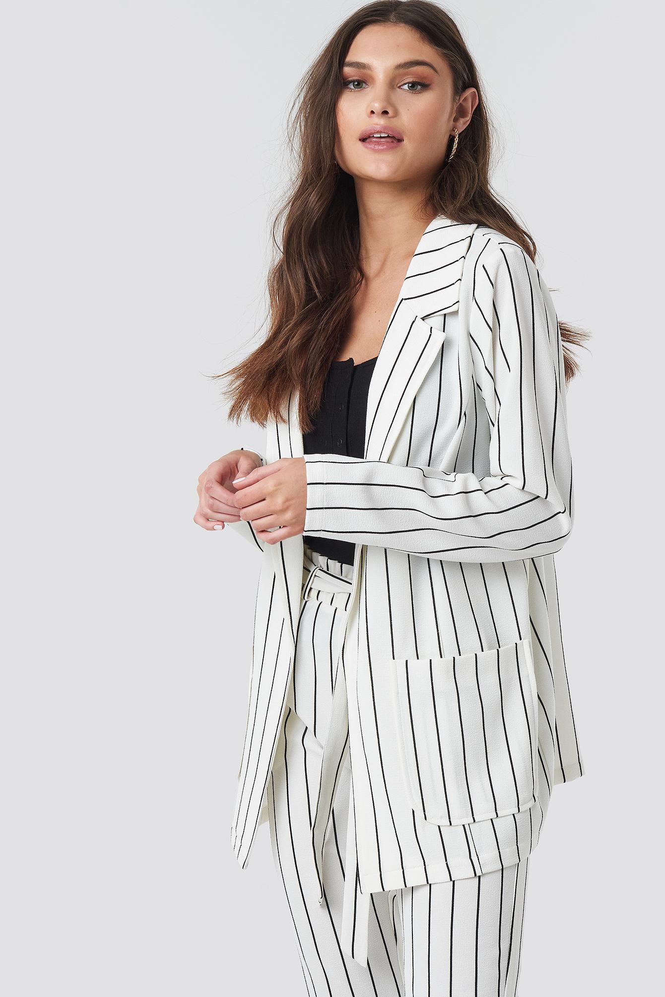 Ofelia Striped Blazer NA-KD.COM