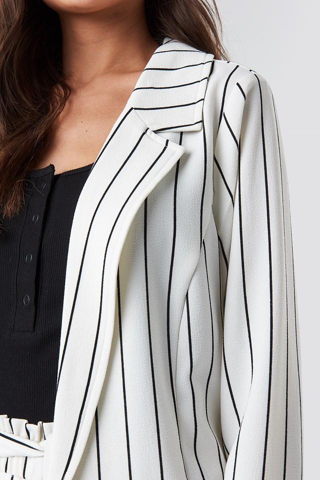 Ofelia Striped Blazer White/Black