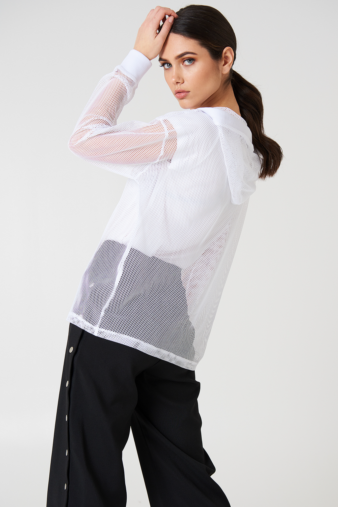 Oversized Mesh hoodie NA-KD.COM