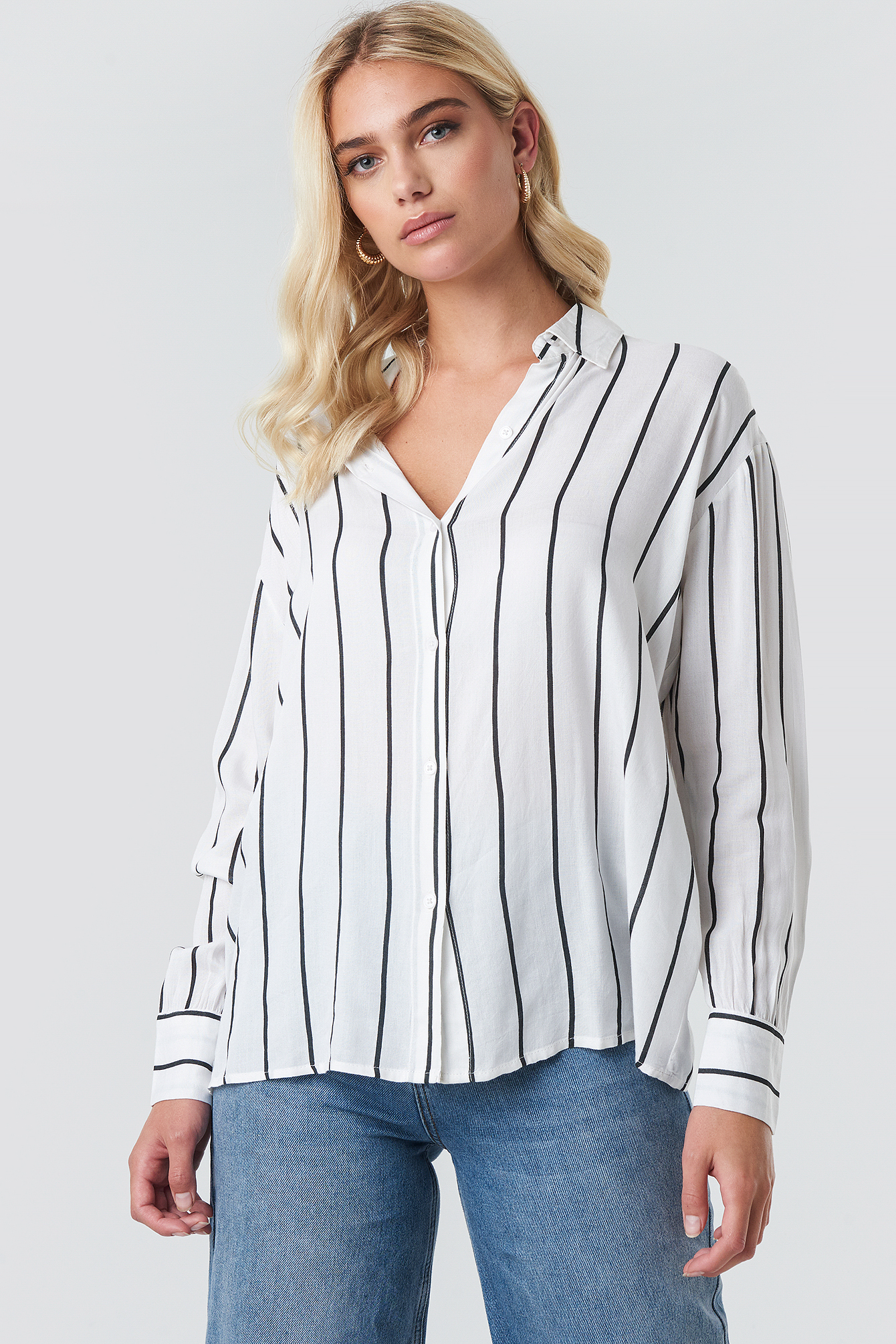 Oversized Stripe Shirt NA-KD.COM