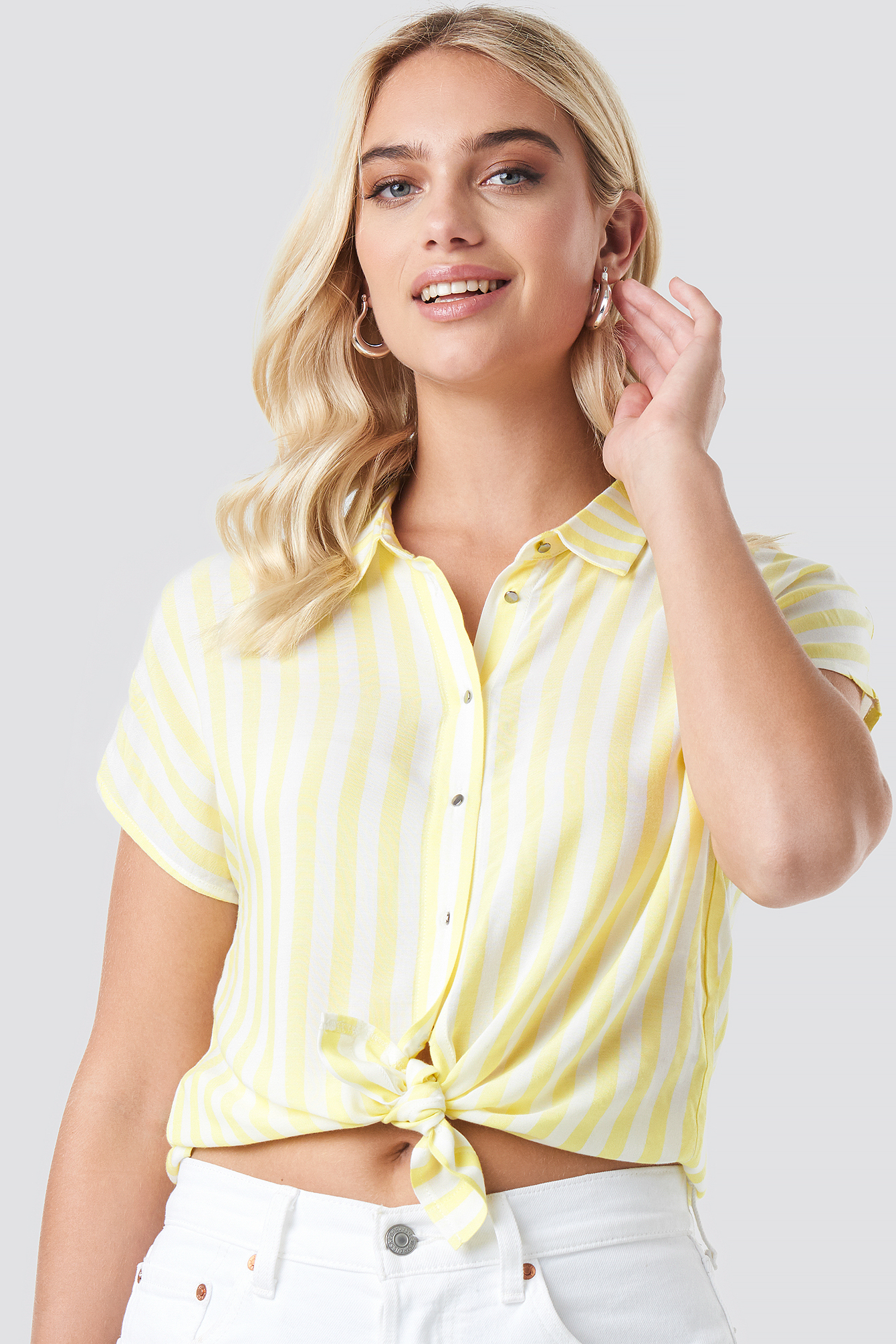 Striped SS Blouse NA-KD.COM