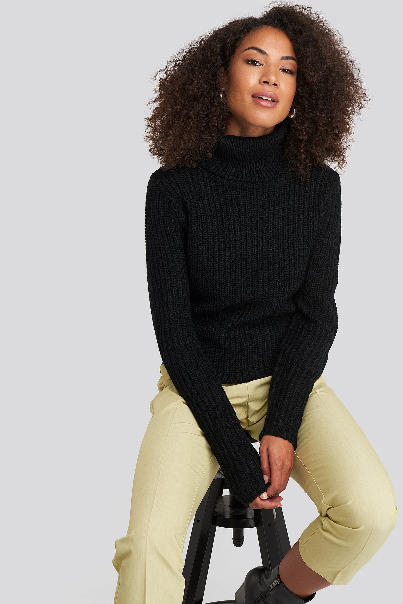rut&circle -  Tinelle Rollneck Knit - Black