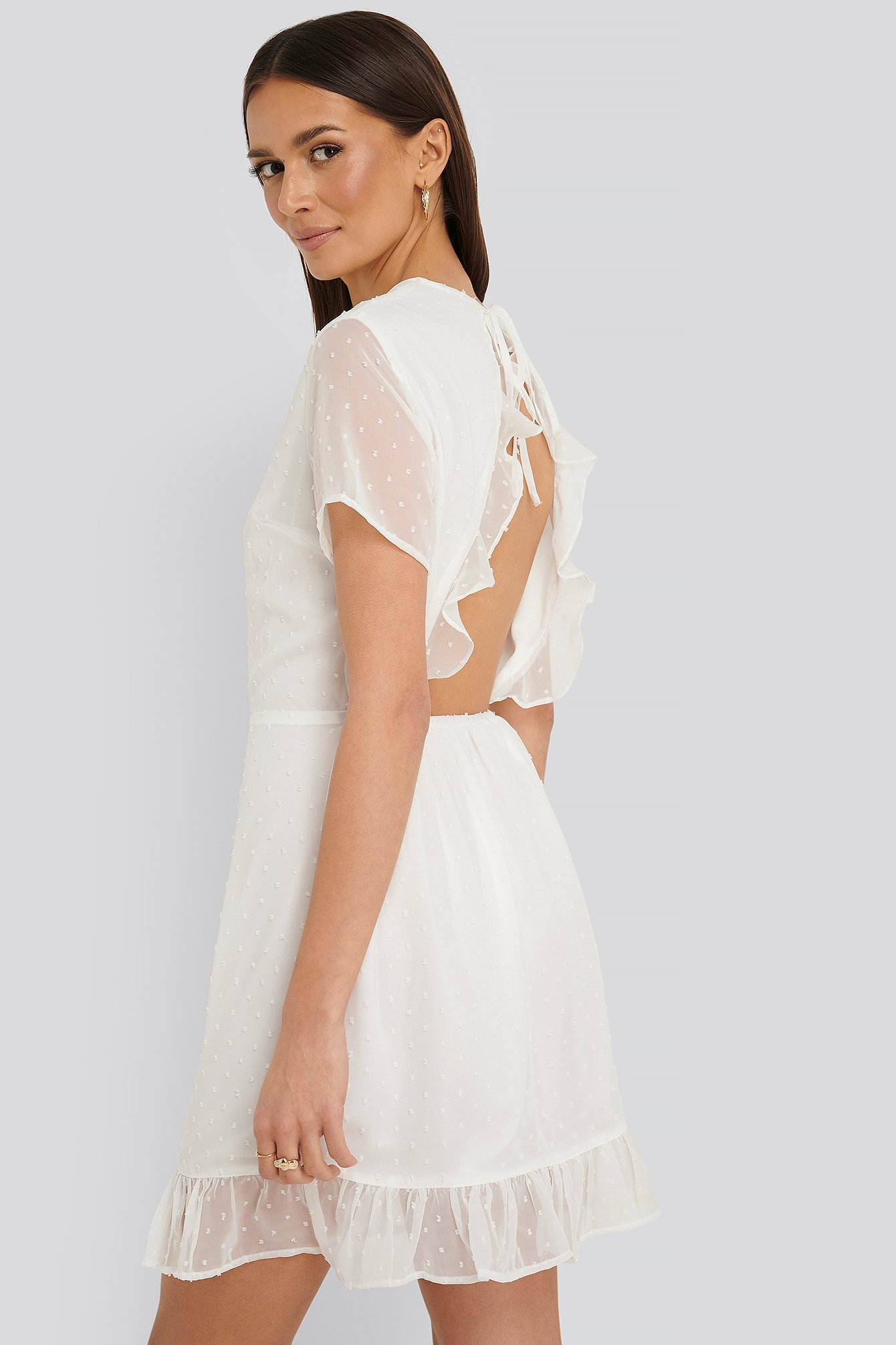 White Lovisa Mini Dress