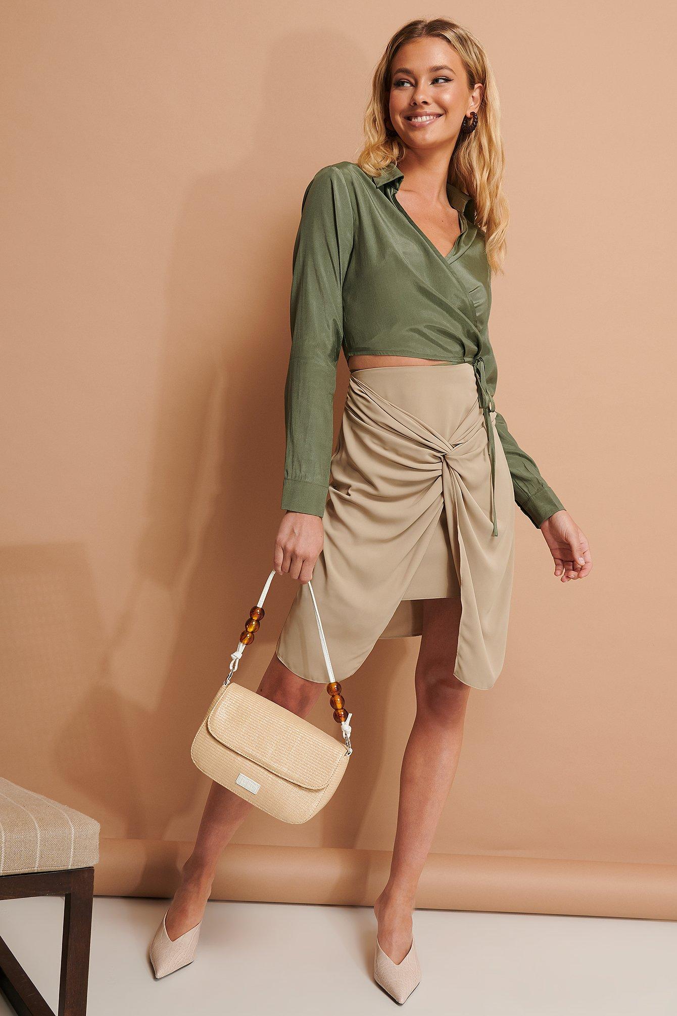 NA-KD Trend Knotendetail Rock - Beige | Bekleidung > Röcke > Sonstige Röcke | NA-KD Trend