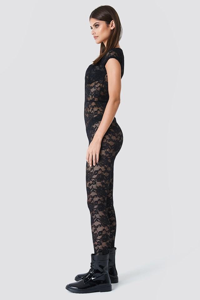 Lace Bodysuit Black