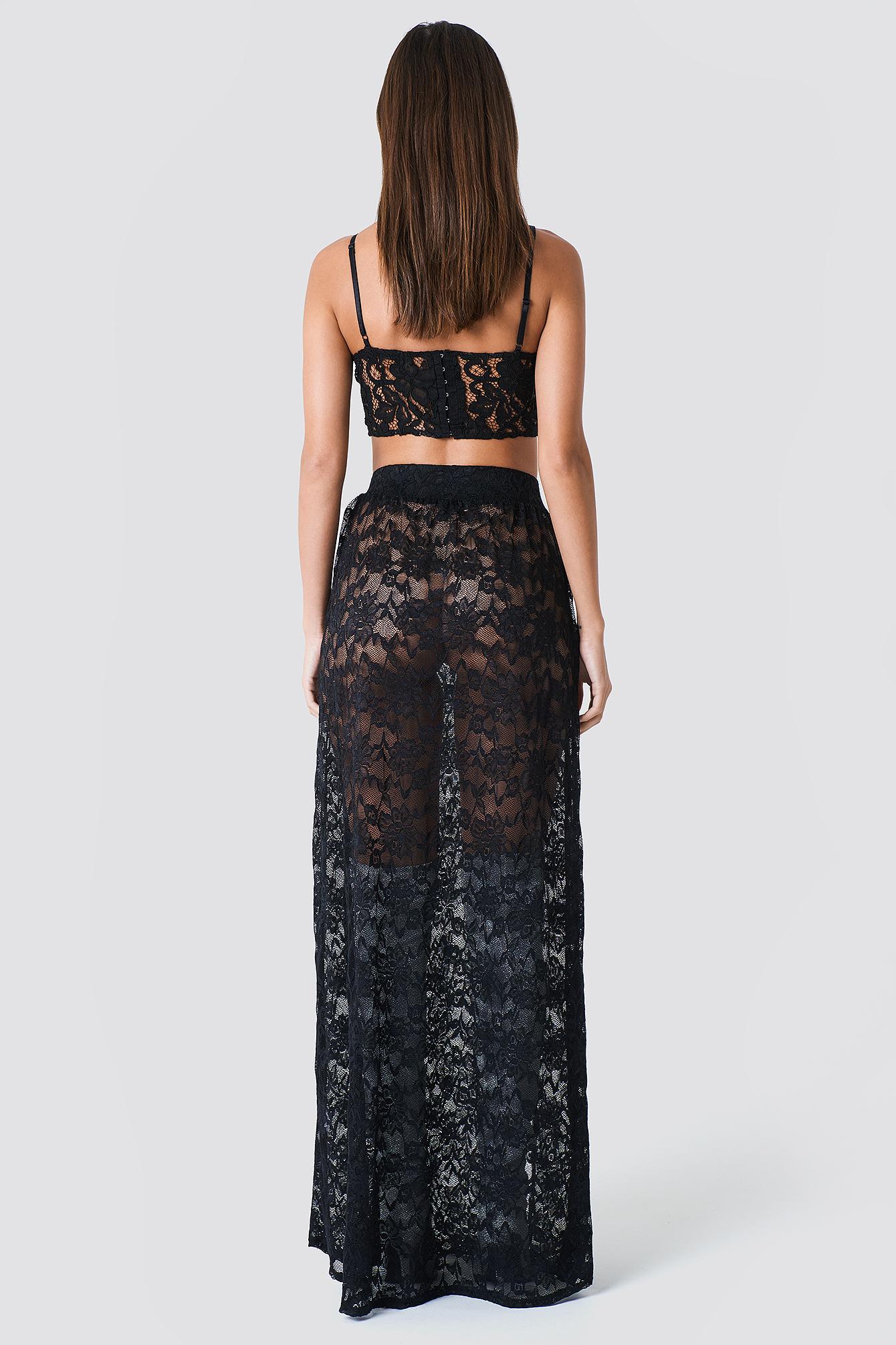 Lace Maxi Skirt NA-KD.COM