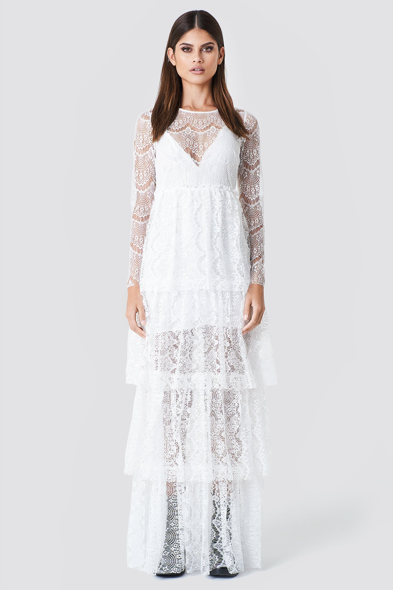 Long Sleeve Lace Dress NA-KD.COM