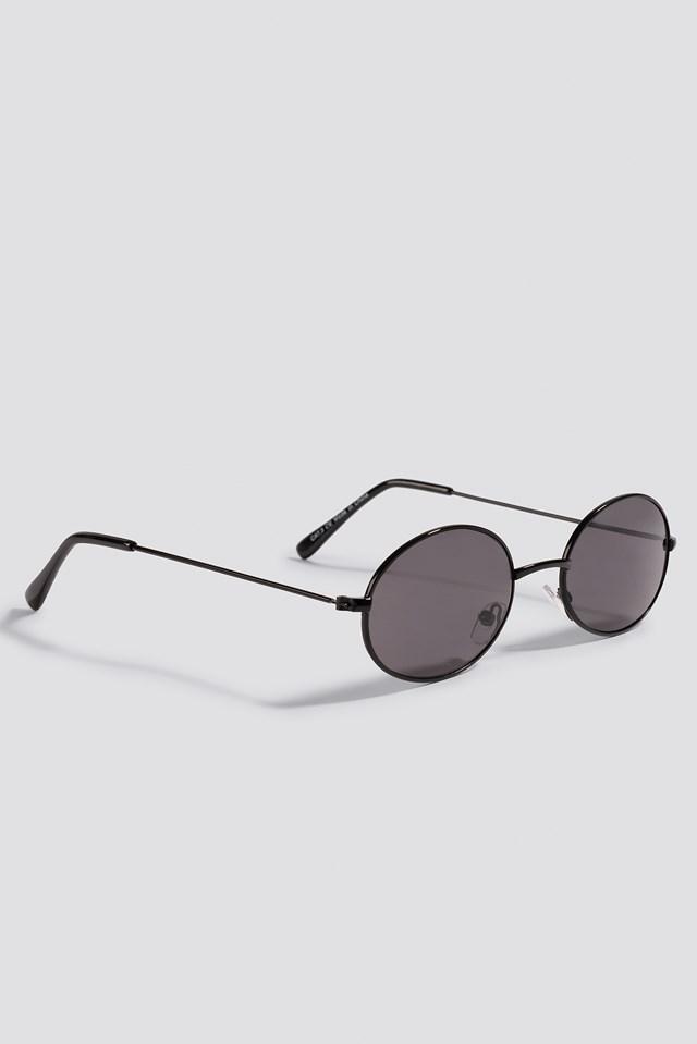 Oval Colored Sunglasses Black