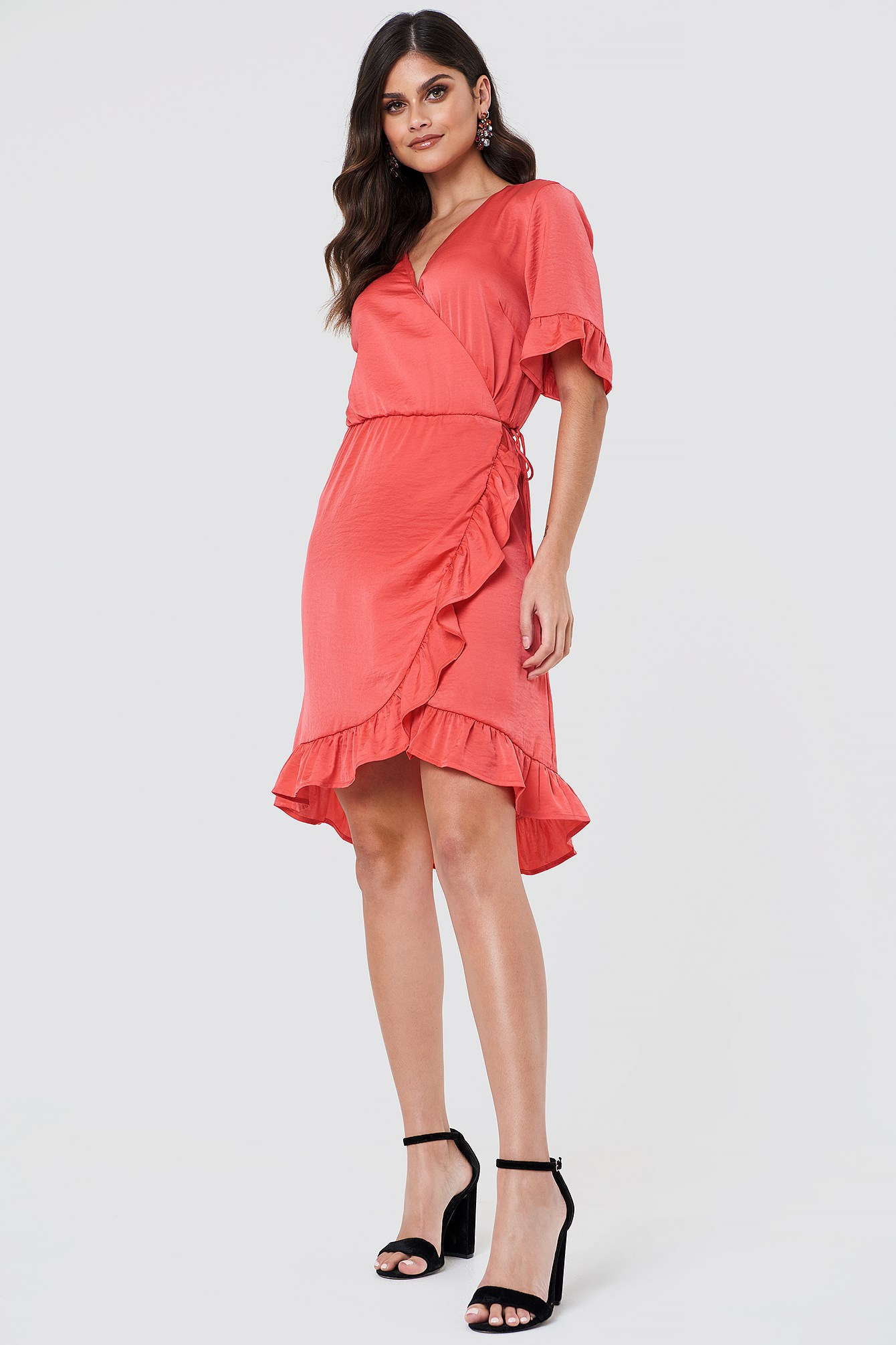 Ruffle Wrap Dress NA-KD.COM