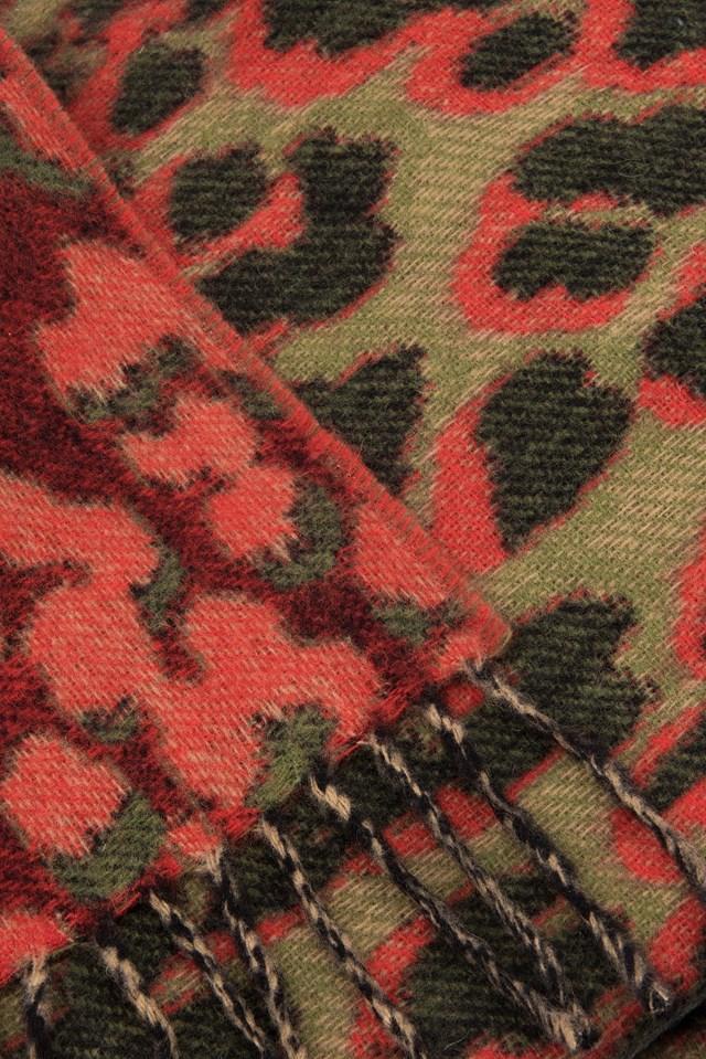Accola Scarf Jac 9434 Leopard Rouge
