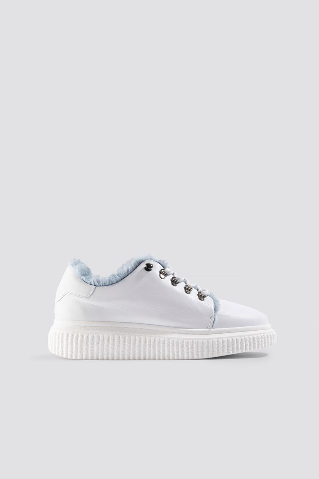 Vala Fur Sneakers White