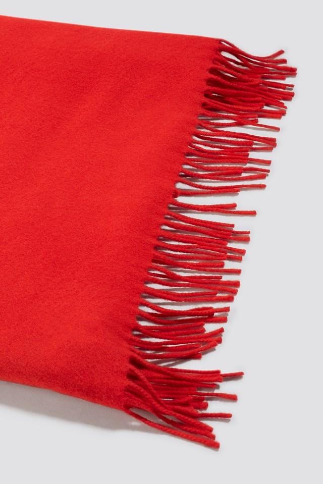 Accola Maxi Scarf Flame Scarlet