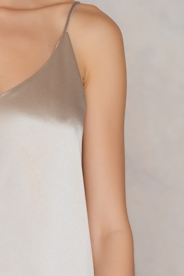 Mano Dress Pale Khaki