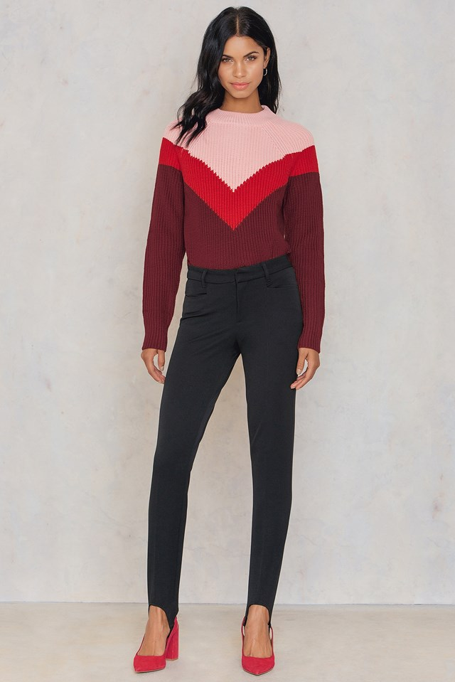 Sevine Block Knit Pink Syrah