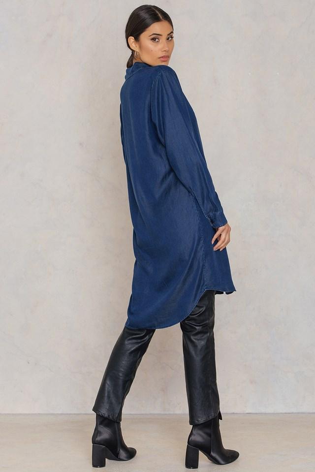 Majse Long Shirt Dark Sapphire