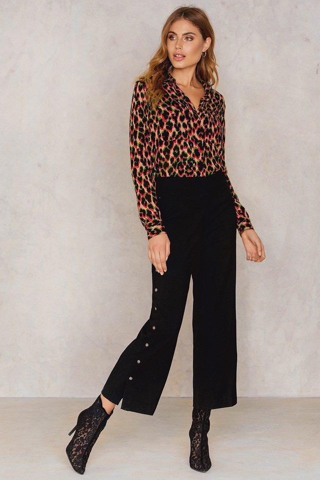 Milly Aop Shirt Leopard Rouge