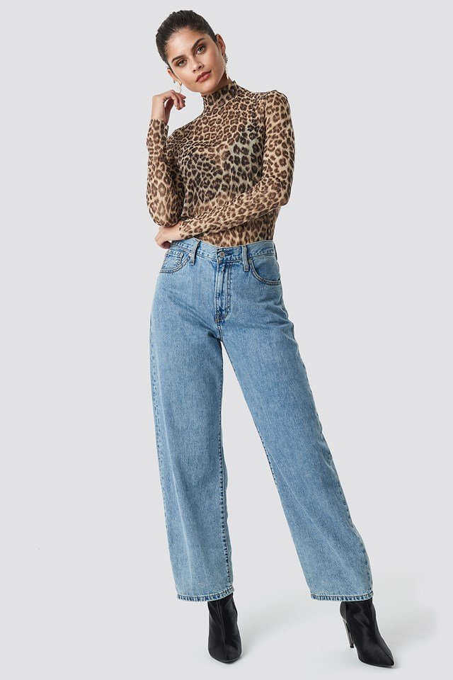 Betti LS Aop Top Leopard