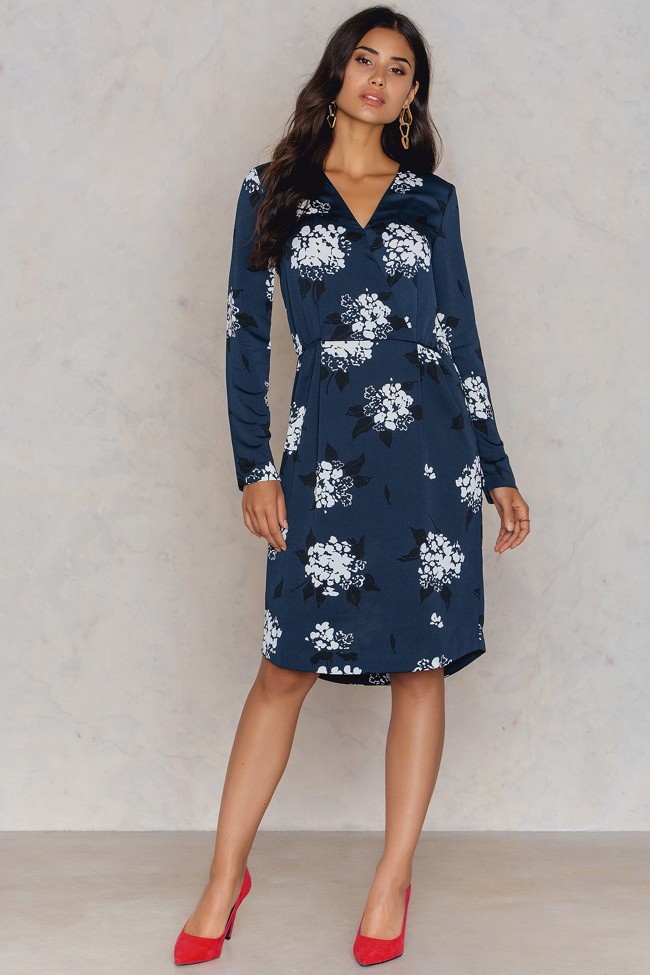 Florasion Bleu Beverly Dress Aop