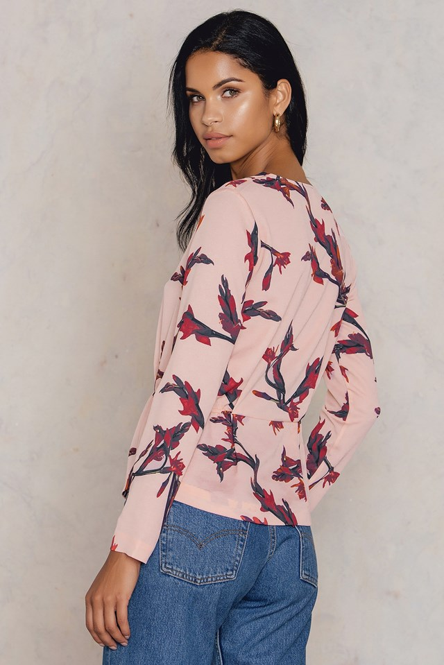 Beverly LS Aop Blouse Glaieful Rose