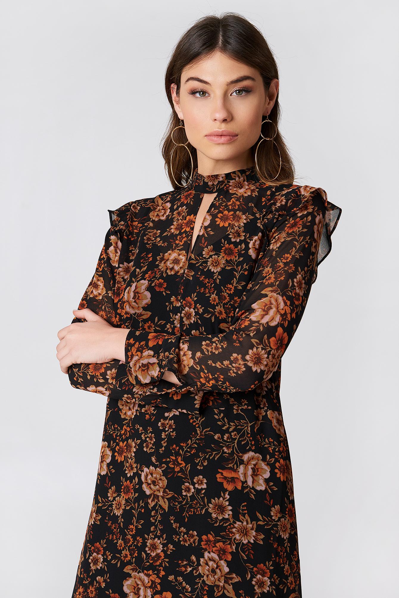 Cavan LS Dress Aop NA-KD.COM