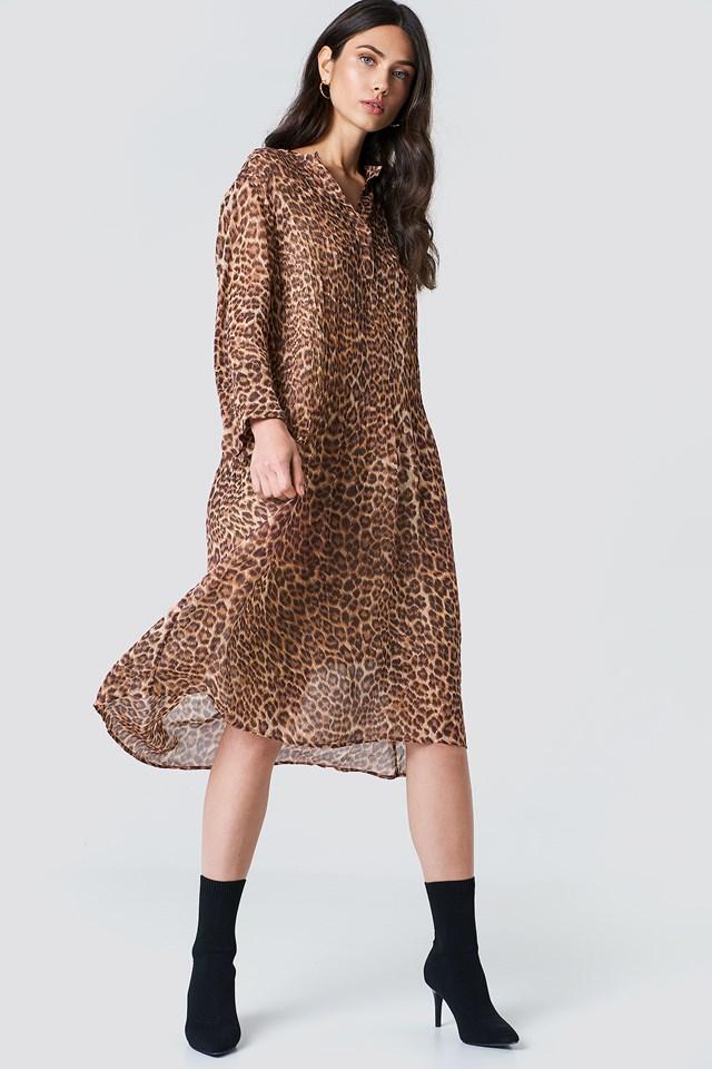 Elm Shirt Dress Leopard