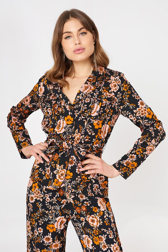 Karri Blazer Aop Black Bloom