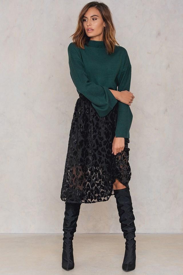Kayla Long Skirt Black