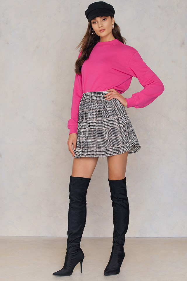 Lei P Skirt Aop Black Red Ch