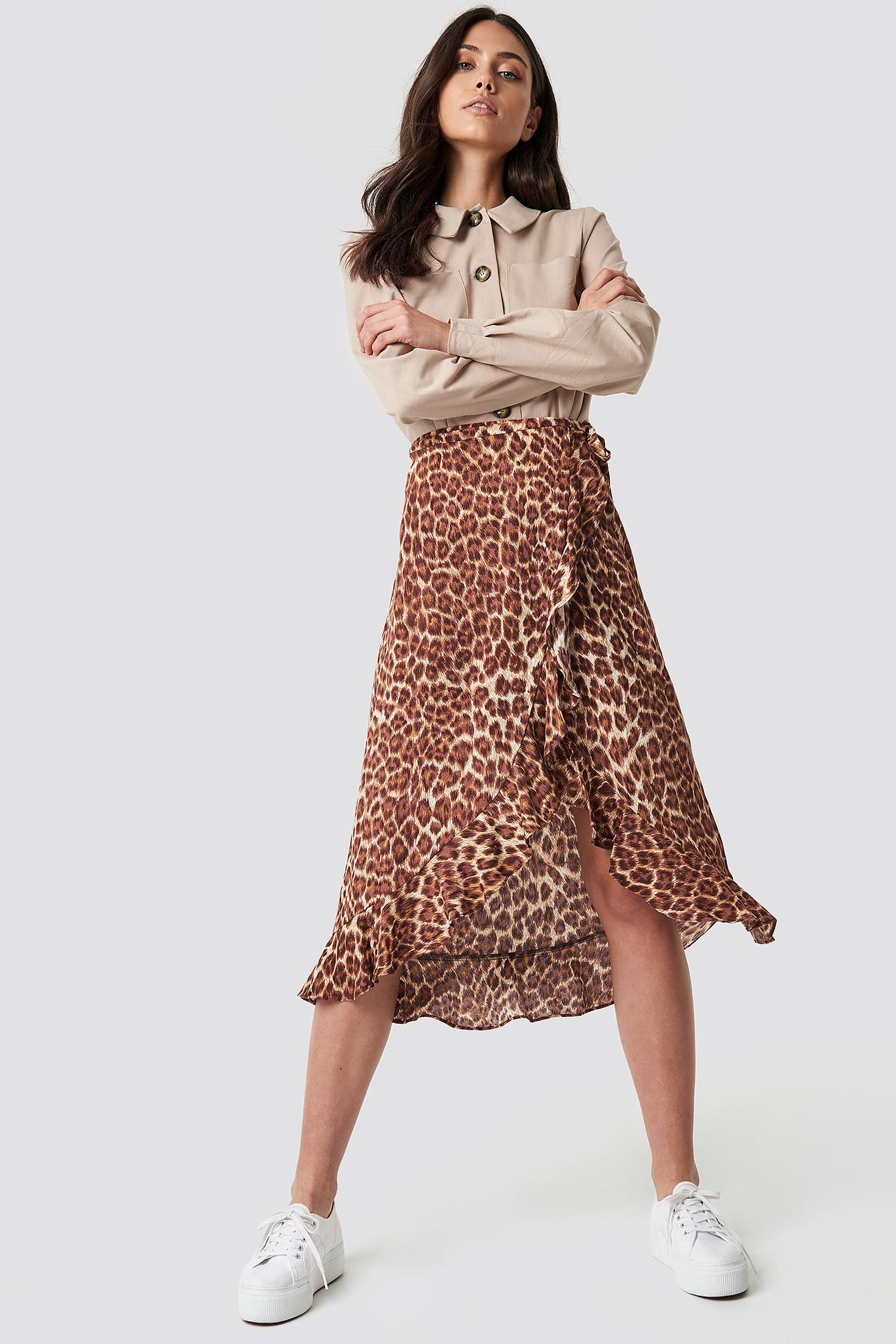 Limon L Wrap Skirt Aop