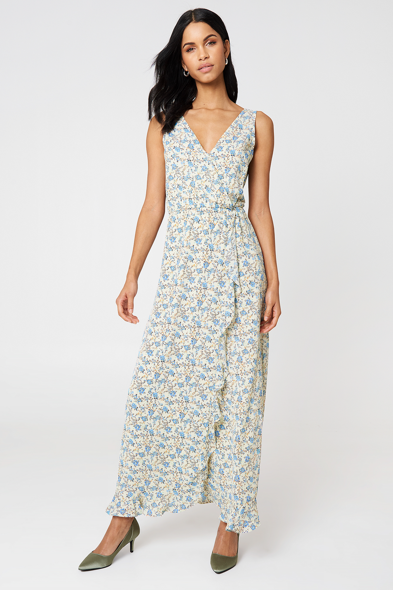 Limon Long Dress Aop NA-KD.COM