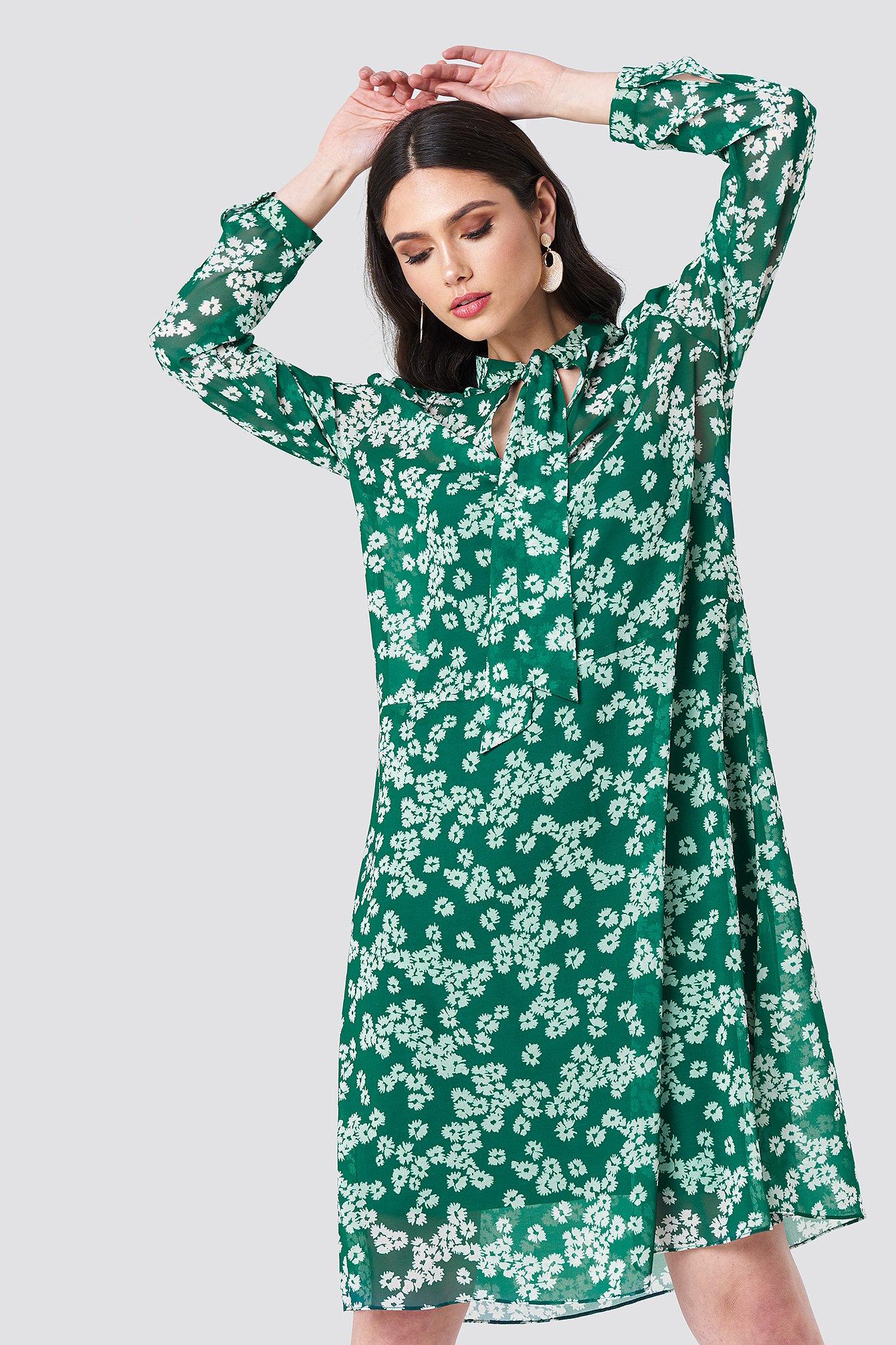 Samsoe & Samsoe Merritt LS Dress Aop - Green