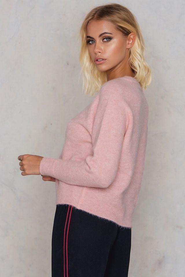 Nor O-N Short Sweater Silver Melange