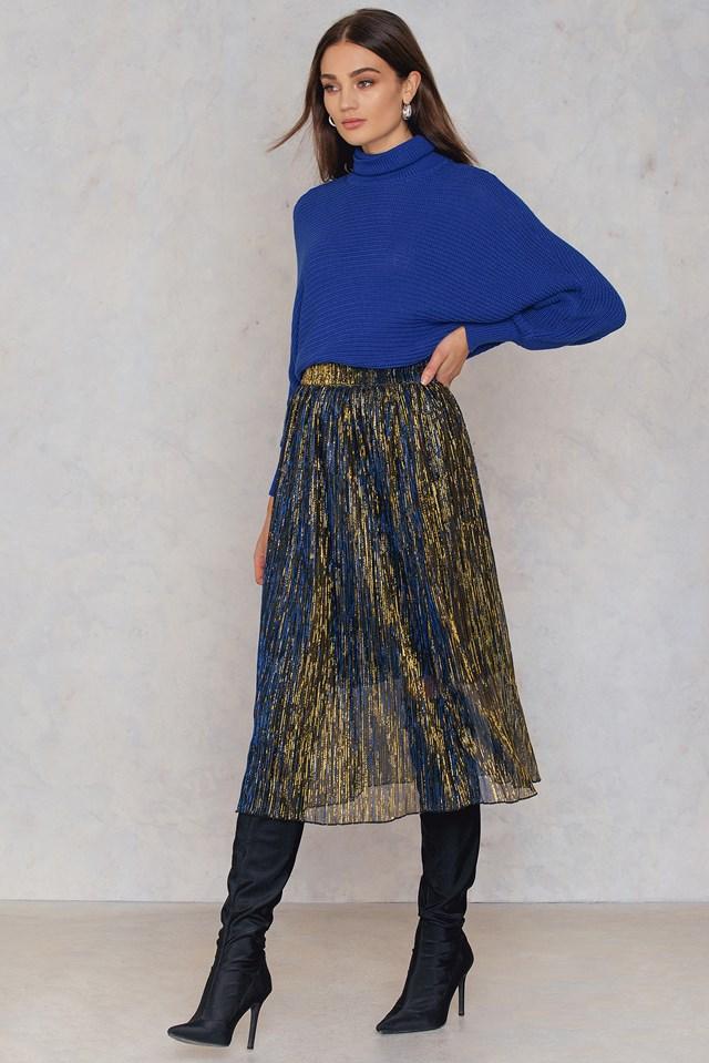 Paris Skirt Gold/Blue
