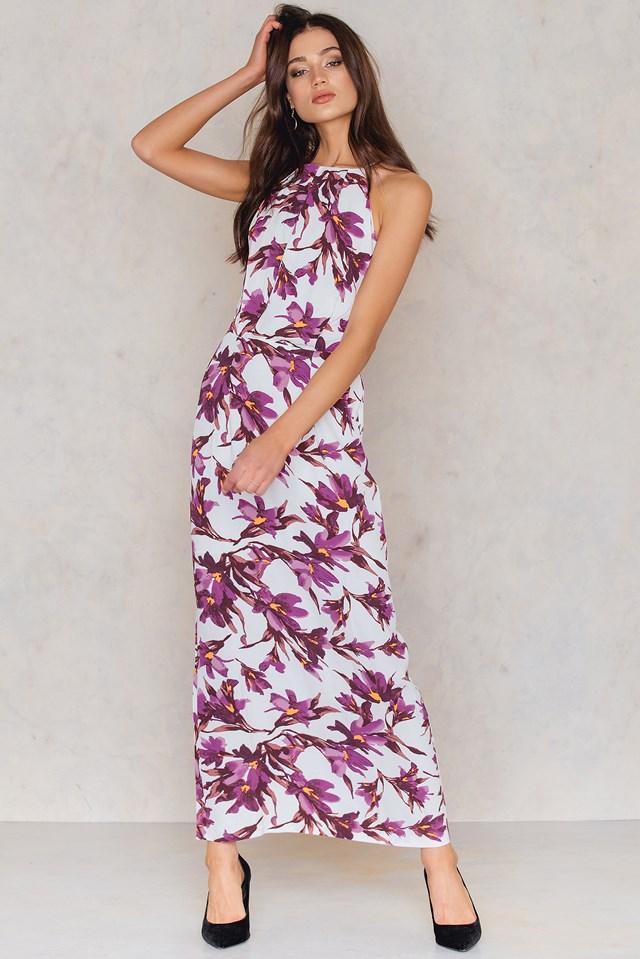 Willow Dress Long Aop Flora