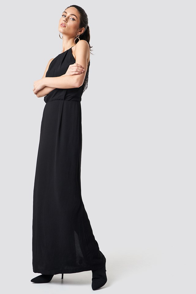 Willow Dress Long Black