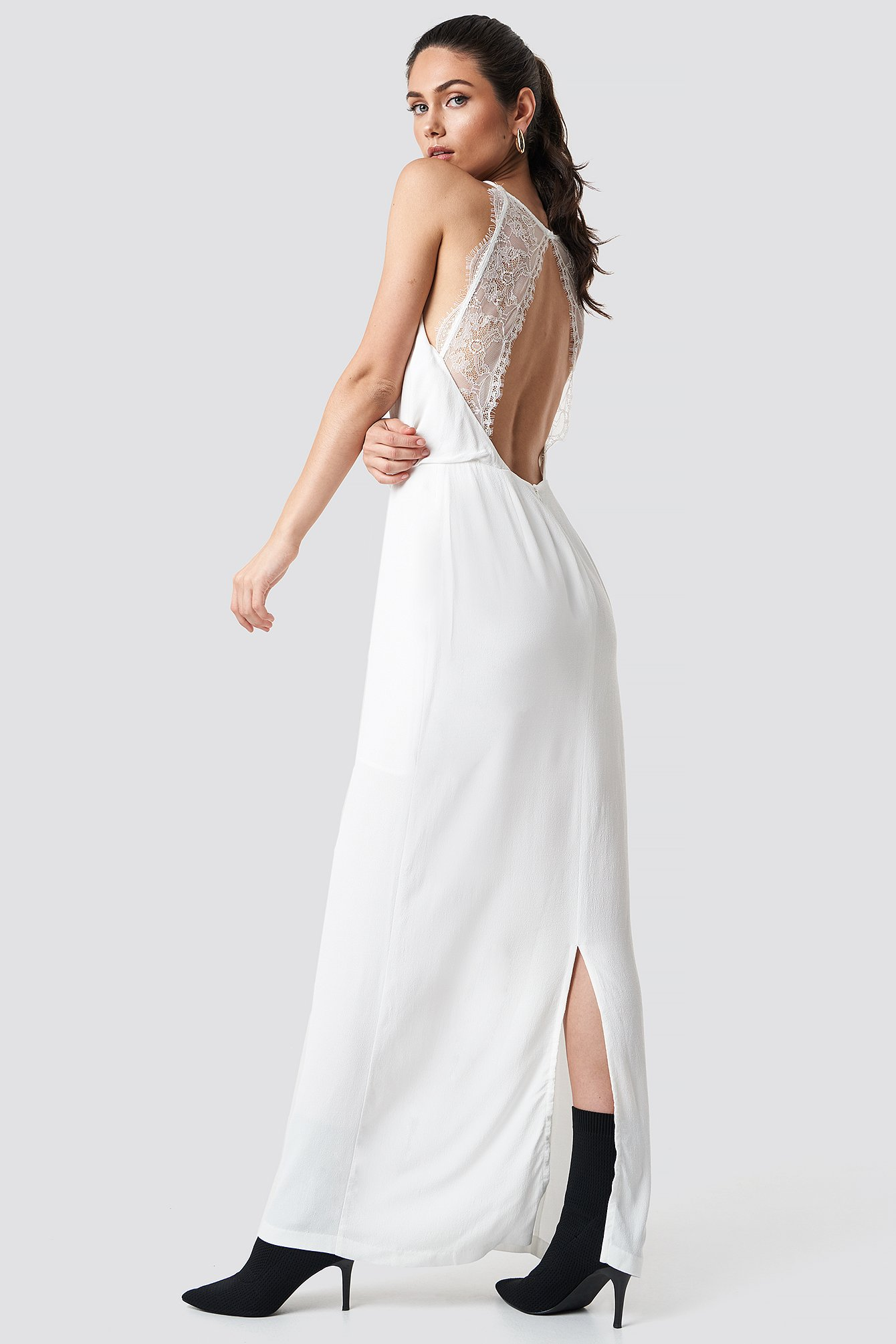 fantastiskt pris bättre bästa sneakers Willow Dress Long White   na-kd.com