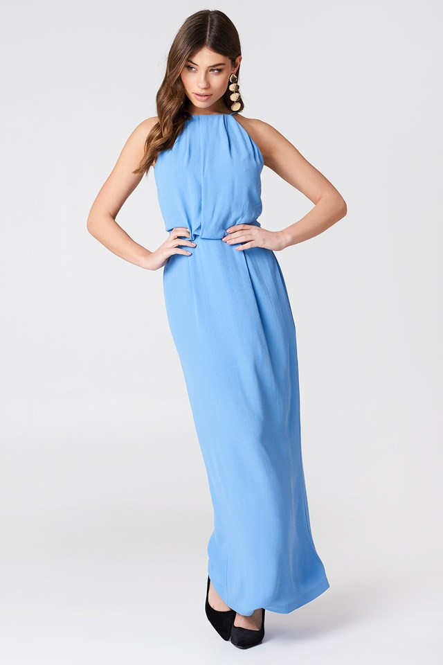 Willow Dress Long Silver Lake Blue