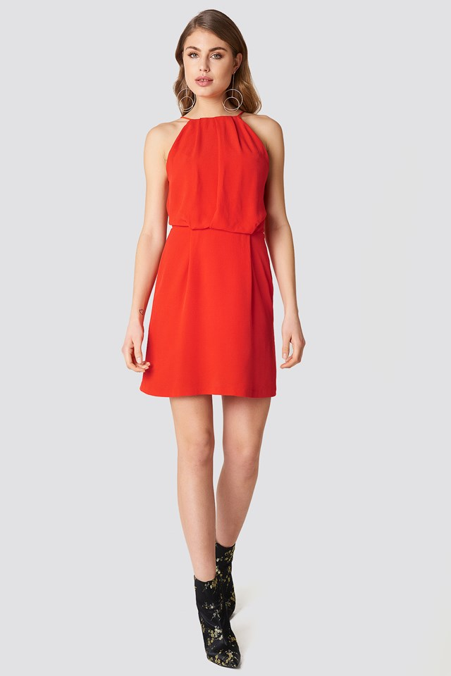 Willow Short Dress Fiery Red
