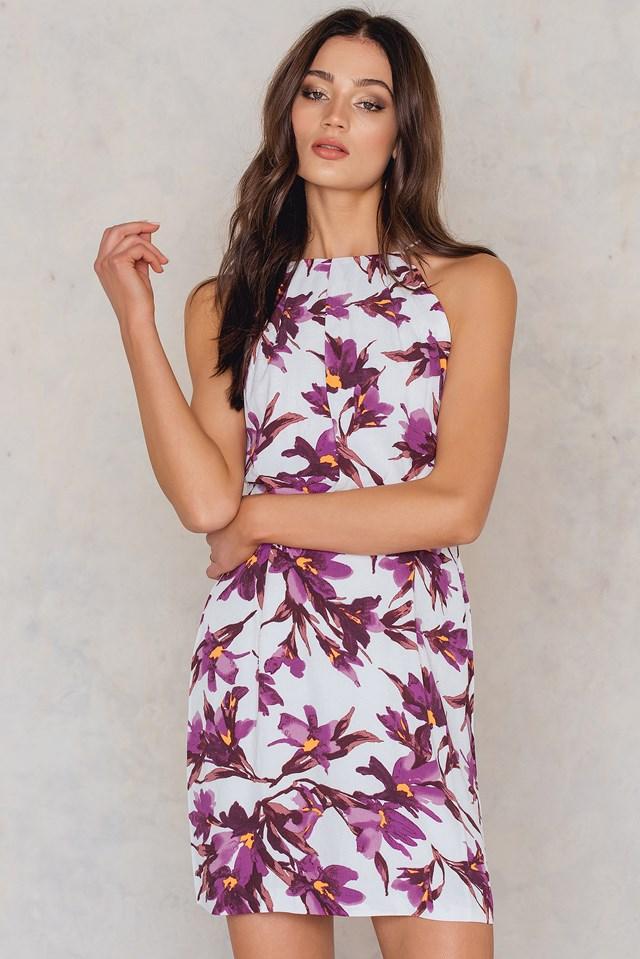 Willow Short Dress Aop Flora